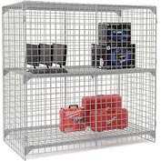 Wire Mesh Security Cage - Ventilated Locker -  72 x 36 x 72