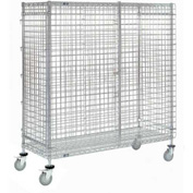 Nexel® Wire Security Storage Truck 36 x 24 x 69 with Brakes 1200 Lb. Cap.
