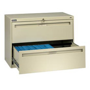 """Deluxe Fixed Front Lateral File Cabinet 36""""W X 28""""H - Putty"""