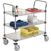 Nexel® Stainless Steel Utility Cart 3 Shelves 36x18