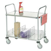 Nexel® Stainless Steel Utility Cart 3 Shelves 48x24