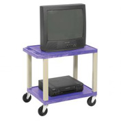 Plastic Utility Cart 2 Shelves Purple - H. Wilson WT26PE