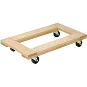 Akro-Mils® RD3624F4P Premium Hardwood Dolly Open Deck 1200 Lb. Capacity