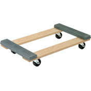 Akro-Mils® RD3018RC3R Premium Hardwood Dolly Rubber Ends 900 Lb. Capacity