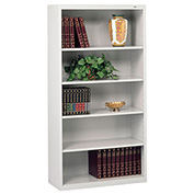 "Welded Steel Bookcase 66""H - Light Gray"