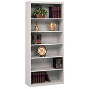 "Welded Steel Bookcase 78""H - Light Gray"