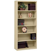 "Welded Steel Bookcase 78""H - Sand"