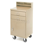 "23""W x 20""D Enclosed Mobile Shop Desk -  Putty"
