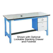 60 X 30 Adjustable Leg Heavy Duty Anti-Static Top Workbench - Blue