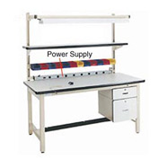 "72"" L Power Supply with Mounting Rail - Beige"