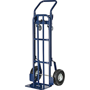 Steel 2-in-1 Convertible Hand Truck with Pneumatic Wheels 600 Lb. Capacity