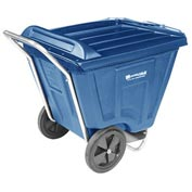Akro-Mils® 76461 Low Profile Blue 60 Gallon Tilt Cart With Lid