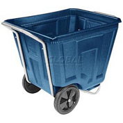 Akro-Mils® 76490 Low Profile Blue 90 Gallon Tilt Cart Without Lid
