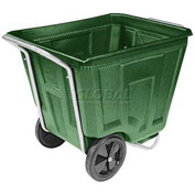 Akro-Mils® 76490 Low Profile Green 90 Gallon Tilt Cart Without Lid