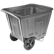 Akro-Mils® 76490 Low Profile Gray 90 Gallon Tilt Cart Without Lid