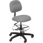 ESD Stool - Fabric - Pneumatic - Gray