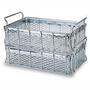 """MID-WEST WIRE Basket - 16x10x4-1/2 - Stainless - -1/2"""" Mesh Sides and Bottom"""