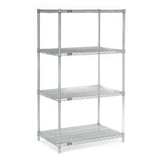 "54""H Nexel Chrome Wire Shelving - 24""W X 14""D"