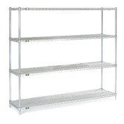 "54""H Nexel Chrome Wire Shelving - 72""W X 18""D"