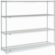 "63""H Nexel Chrome Wire Shelving - 54""W X 14""D"