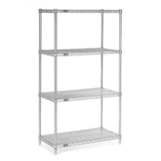 "63""H Nexel Chrome Wire Shelving - 30""W X 24""D"