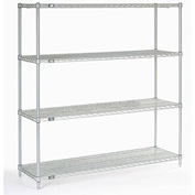 "63""H Nexel Chrome Wire Shelving - 60""W X 18""D"
