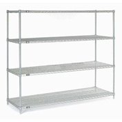 "63""H Nexel Chrome Wire Shelving - 72""W X 24""D"