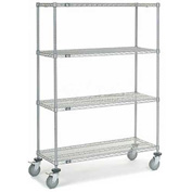 Nexel® Chrome Wire Shelf Truck 48x18x69 1200 Pound Capacity