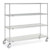 Nexel® Chrome Wire Shelf Truck 72x24x69 1200 Pound Capacity