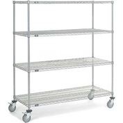 Nexel® Chrome Wire Shelf Truck 60 X 24 X 69 1200 Pound Capacity