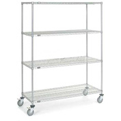 Nexel® Chrome Wire Shelf Truck 60x24x80 1200 Pound Capacity