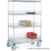 Nexel® Chrome Wire Shelf Truck 36x18x72 1200 Pound Capacity