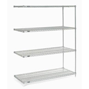 "Nexel Poly-Z-Brite Wire Shelving Add-On 60""W X 24""D X 74""H"