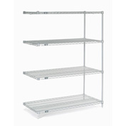 "Nexel Stainless Steel Wire Shelving Add-On 48""W X 24""D X 63""H"