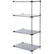 60x24x63 Galvanized Steel Solid Shelving Add-On
