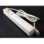 Wiremold M6BZ 6 Outlet Power Strip and Surge Protector with 6-ft Cord