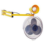 "Double Arm Dock Fan and Dock Light with 40"" L Reach"