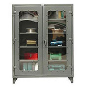 Strong Hold® Heavy Duty Clearview Storage Cabinet 45-LD-243G - 48x24x66