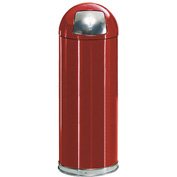 Rubbermaid® R1536EPL 15 Gallon Round Dome Top Waste Receptacle with Plastic Liner - Red