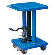 Work Positioning Post Lift Table with Foot Control 500 Lb. Capacity