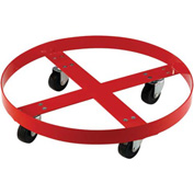 Drum Dolly for 30 Gallon Drum - Steel Wheels 1000 Lb. Capacity