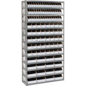 Steel Open Shelving with 104 Corrugated Shelf Bins 13 Shelves - 36x12x73