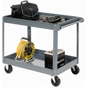 Edsal SC5000 2 Shelf Deep Tray Steel Stock Cart 30x16 800 Lb. Capacity