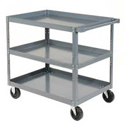 Edsal HDC3624-3 3 Shelf Steel Stock Cart 36 x 24 800 Lb. Capacity