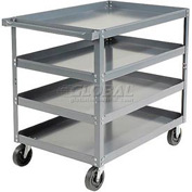 Edsal HDC3018-4 4 Shelf Steel Stock Cart 30 x 18