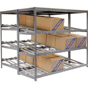 "Carton Flow Shelving Double Depth 3 LEVEL 96""W x 84""D x 84""H"
