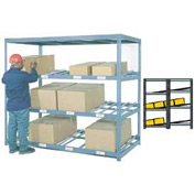 "Carton Flow Shelving Double Depth 5 LEVEL 96""W x 84""D x 84H"""