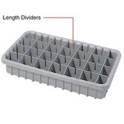 Dandux Length Divider 50P0016067 for Dividable Nesting Box 50P1816070, 50P1811070, Gray