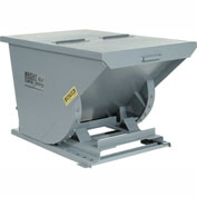 Wright 15099 1-1/2 Cu Yd Gray HD Self Dumping Forklift Hopper, Heavy Gauge Base