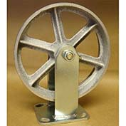 "Semi-Steel Casters 8"" x 2"" (2 Swivel, 2 Rigid) for Wright Self-Dumping & Low Profile Hoppers"